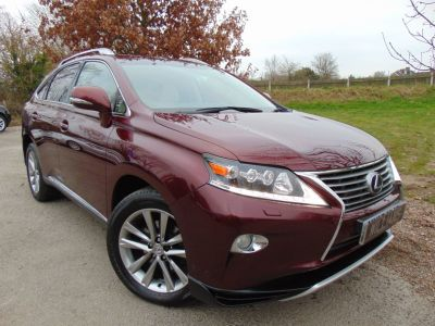 Lexus RX 450h 3.5 Premier 5dr CVT Auto (Sunroof! Keyless! Rear Camera! ++) Estate Petrol / Electric Hybrid Noble Spinel Red MetallicLexus RX 450h 3.5 Premier 5dr CVT Auto (Sunroof! Keyless! Rear Camera! ++) Estate Petrol / Electric Hybrid Noble Spinel Red Metallic at Williams Group Maidstone