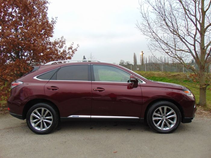 Lexus RX 450h 3.5 Premier 5dr CVT Auto (Sunroof! Keyless! Rear Camera! ++) Estate Petrol / Electric Hybrid Noble Spinel Red Metallic
