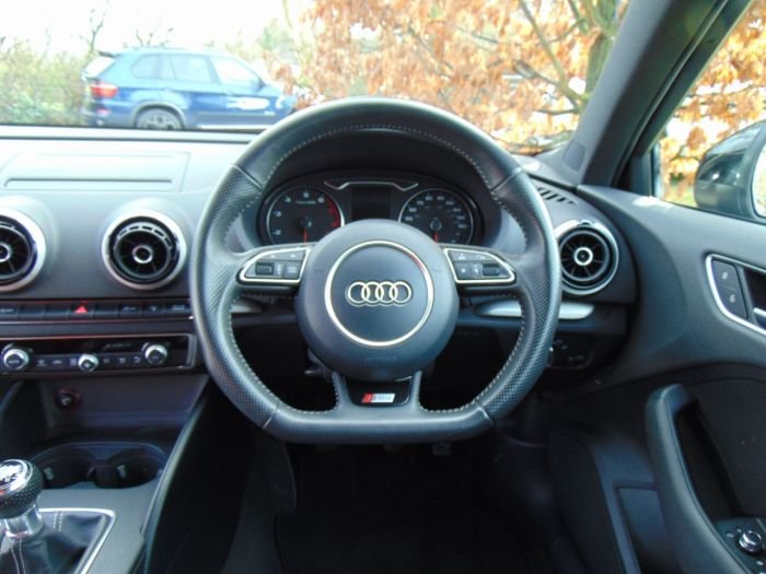 Audi A3 1.2 TFSI S Line 3dr (Bi-Xenon Headlights! +++) Hatchback Petrol Brilliant Black Gloss