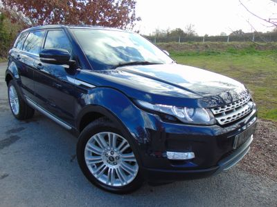 Land Rover Range Rover Evoque 2.2 SD4 Prestige 5dr Auto (Pan Roof! Full Land Rover SH! ++) Estate Diesel Loire Blue MetallicLand Rover Range Rover Evoque 2.2 SD4 Prestige 5dr Auto (Pan Roof! Full Land Rover SH! ++) Estate Diesel Loire Blue Metallic at Williams Group Maidstone