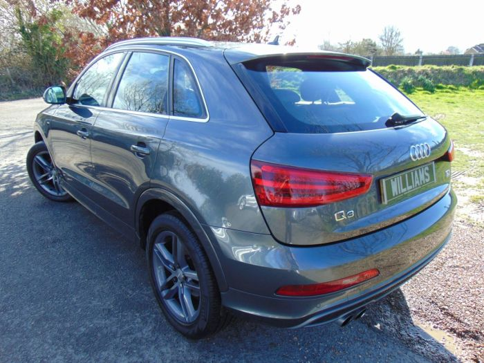 Audi Q3 2.0 TDI [177] Quattro S Line 5dr S Tronic (Nav! Pearlescent Paint! ++) Estate Diesel Daytona Grey Pearlescent