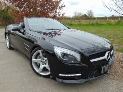 Mercedes-Benz SL Class 3.5 SL 350 2dr Auto (AMG Sport Pack! Pan Roof! +++) Convertible Petrol Obsidian Black MetallicMercedes-Benz SL Class 3.5 SL 350 2dr Auto (AMG Sport Pack! Pan Roof! +++) Convertible Petrol Obsidian Black Metallic at Williams Group Maidstone