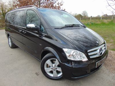 Mercedes-Benz Viano 3.0 CDI Ambiente 5dr Tip Auto (Electric Sliding Doors! Nav! ++) MPV Diesel Obsidian Black MetallicMercedes-Benz Viano 3.0 CDI Ambiente 5dr Tip Auto (Electric Sliding Doors! Nav! ++) MPV Diesel Obsidian Black Metallic at Williams Group Maidstone