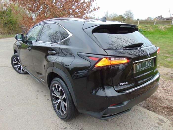 Lexus Nx 300h 2.5 F-Sport 5dr CVT (18in Alloys! Adaptive Cruise! +) Estate Petrol / Electric Hybrid Obsidian Black Metallic