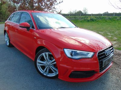 Audi A3 1.6 TDI 110 S Line 5dr (Comfort Pack! Nav! +++) Hatchback Diesel Misano Red PearlAudi A3 1.6 TDI 110 S Line 5dr (Comfort Pack! Nav! +++) Hatchback Diesel Misano Red Pearl at Williams Group Maidstone