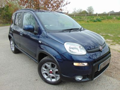 Fiat Panda 0.9 TwinAir [85] 4x4 5dr (Climate! Winter Pack! ++) Hatchback Petrol Mediterranean Blue MetallicFiat Panda 0.9 TwinAir [85] 4x4 5dr (Climate! Winter Pack! ++) Hatchback Petrol Mediterranean Blue Metallic at Williams Group Maidstone