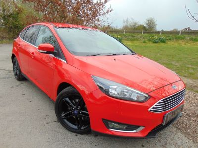 Ford Focus 1.6 TDCi 115 Titanium 5dr (Ford SYNC2! Appearance Pack! ++) Hatchback Diesel Race RedFord Focus 1.6 TDCi 115 Titanium 5dr (Ford SYNC2! Appearance Pack! ++) Hatchback Diesel Race Red at Williams Group Maidstone