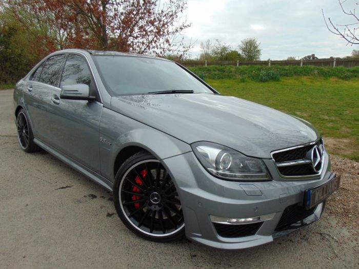 Mercedes-Benz C Class 6.3 C63 AMG MCT 7S 4dr (AMG Performance Pack! COMAND! ++) Saloon Petrol Palladium Silver Special Metallic