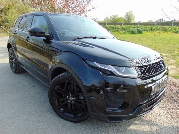 Land Rover Range Rover Evoque 2.0 Si4 HSE Dynamic 5dr Auto (Memory Seats! Pan Roof! +++) Estate Petrol Santorini Black Metallic