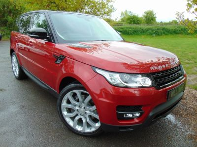Land Rover Range Rover Sport 3.0 SDV6 HSE Dynamic 5dr Auto (Pan Roof! 22in Alloys! Meridian! +) Estate Diesel Firenze Red MetallicLand Rover Range Rover Sport 3.0 SDV6 HSE Dynamic 5dr Auto (Pan Roof! 22in Alloys! Meridian! +) Estate Diesel Firenze Red Metallic at Williams Group Maidstone