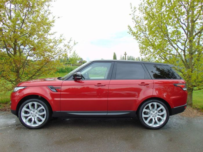 Land Rover Range Rover Sport 3.0 SDV6 HSE Dynamic 5dr Auto (Pan Roof! Just Been Serviced! +) Estate Diesel Firenze Red Metallic