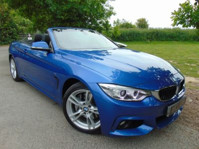 BMW 4 Series 3.0 435i M Sport 2dr Auto (DAB FSH! Nav! Heated Seats! ++) Convertible Petrol Estoril Blue MetallicBMW 4 Series 3.0 435i M Sport 2dr Auto (DAB FSH! Nav! Heated Seats! ++) Convertible Petrol Estoril Blue Metallic at Williams Group Maidstone
