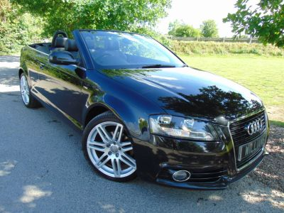 Audi A3 Cabriolet 1.8 TFSI Cabriolet S Tronic 2dr (Heated Seats! Rear Sensors! +++) Convertible Petrol BlackAudi A3 Cabriolet 1.8 TFSI Cabriolet S Tronic 2dr (Heated Seats! Rear Sensors! +++) Convertible Petrol Black at Williams Group Maidstone
