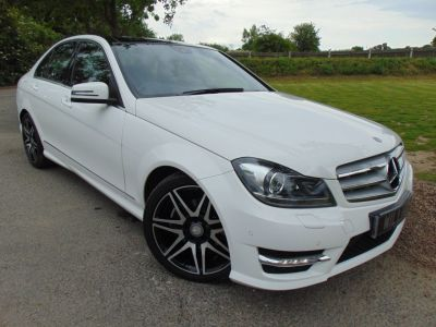 Mercedes-Benz C Class 2.1 C220 CDI BlueEFFICIENCY AMG Sport Plus 4dr Auto (Full Merc SH! Pan Roof! +++) Saloon Diesel Polar WhiteMercedes-Benz C Class 2.1 C220 CDI BlueEFFICIENCY AMG Sport Plus 4dr Auto (Full Merc SH! Pan Roof! +++) Saloon Diesel Polar White at Williams Group Maidstone