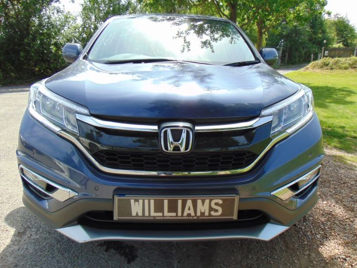 Honda CR-V 1.6 i-DTEC SE 5dr 2WD (Full Honda SH! Rear Camera! ++) Estate Diesel Deep Ocean Blue