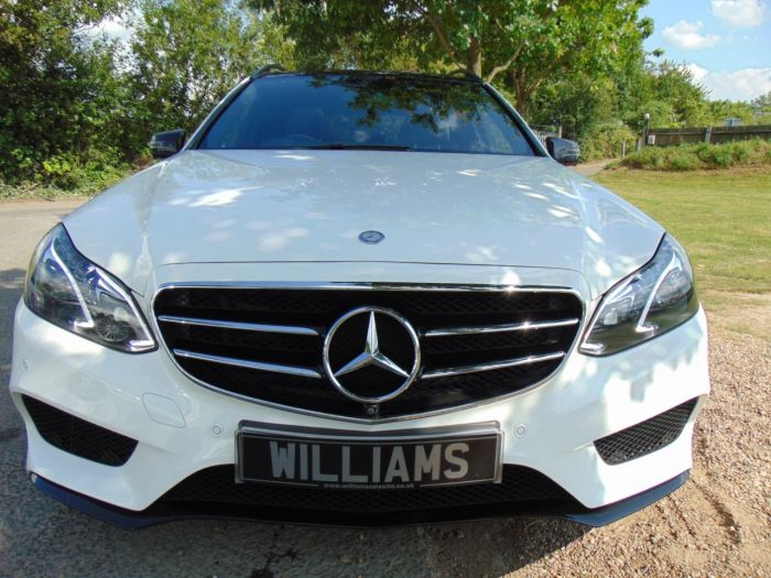 Mercedes-Benz E Class 3.0 E350 BlueTEC AMG Night Ed Premium 5dr 9G-Tronic (360 Camera! Pan Roof! ++) Estate Diesel White
