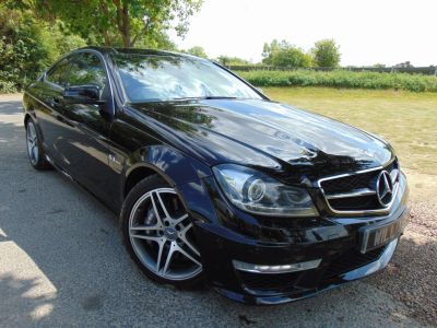 Mercedes-Benz C Class 6.2 C63 2dr Auto (Pan Roof! Low Miles! +++) Coupe Petrol Obsidian Black MetallicMercedes-Benz C Class 6.2 C63 2dr Auto (Pan Roof! Low Miles! +++) Coupe Petrol Obsidian Black Metallic at Williams Group Maidstone