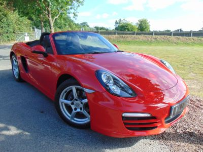 Porsche Boxster 2.7 2dr (Park Assist! Heated Seats! ++) Convertible Petrol Guards Red GlossPorsche Boxster 2.7 2dr (Park Assist! Heated Seats! ++) Convertible Petrol Guards Red Gloss at Williams Group Maidstone