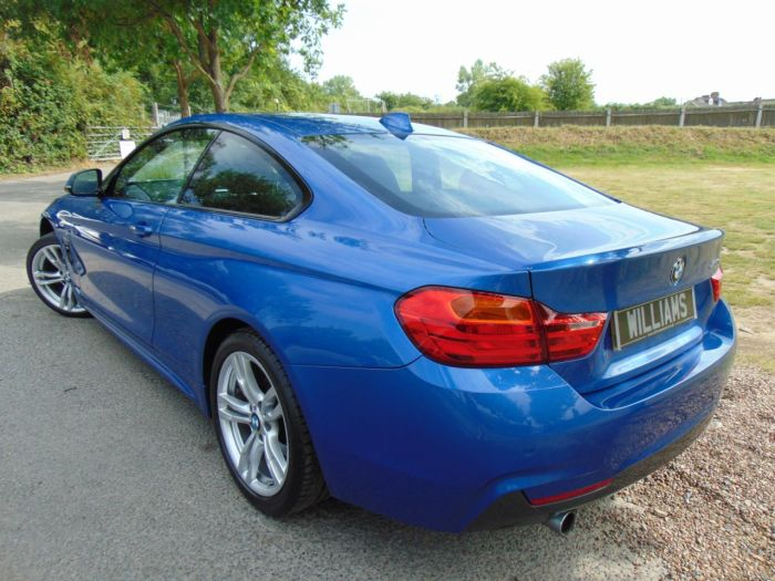BMW 4 Series 2.0 420d M Sport 2dr Auto (Sunroof! FSH! 18in Alloys! +++) Coupe Diesel Estoril Blue Metallic