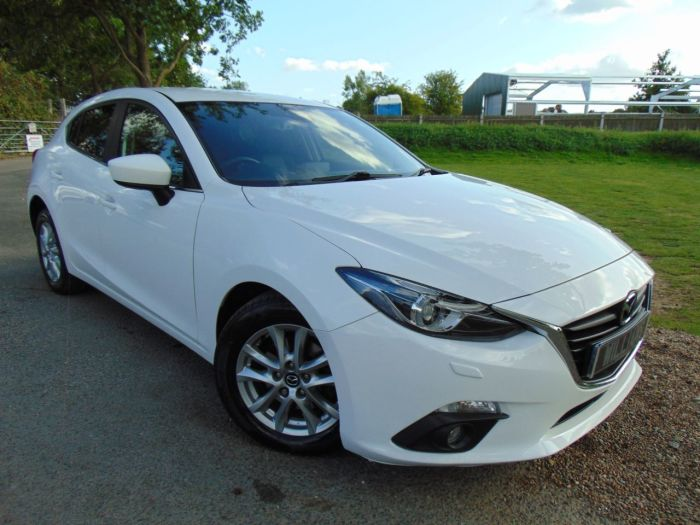 Mazda 3 2.0 SE-L 5dr Auto (Low Miles! Nav! Heated Seats! +) Hatchback Petrol Snowflake White