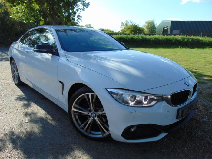 BMW 4 Series 2.0 420d Sport 2dr (19in Alloys! Privacy Glass! ++) Coupe Diesel Alpine White