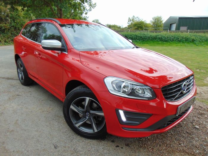 Volvo XC60 2.0 D4 [181] R DESIGN Nav 5dr (Heated Seats! Privacy Glass! +) Estate Diesel Passion Red Gloss