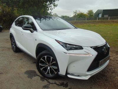 Lexus Nx 300h 2.5 F-Sport 5dr CVT (1 Owner! Full Lexus SH! +++) Estate Petrol / Electric Hybrid WhiteLexus Nx 300h 2.5 F-Sport 5dr CVT (1 Owner! Full Lexus SH! +++) Estate Petrol / Electric Hybrid White at Williams Group Maidstone