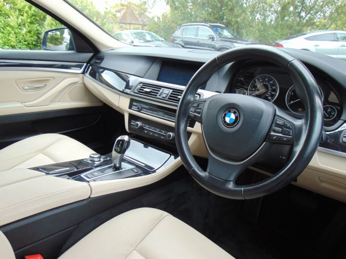 BMW 5 Series 2.0 520d SE 4dr Step Auto (Pro Nav! Dakota Leather! +++) Saloon Diesel Sophisto Grey Metallic