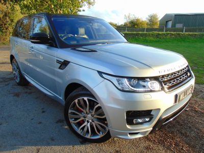 Land Rover Range Rover Sport 3.0 SDV6 [306] Autobiography Dynamic 5dr Auto (7 Seats! Stealth! Heads-Up! ++) Estate Diesel Indus Silver MetallicLand Rover Range Rover Sport 3.0 SDV6 [306] Autobiography Dynamic 5dr Auto (7 Seats! Stealth! Heads-Up! ++) Estate Diesel Indus Silver Metallic at Williams Group Maidstone