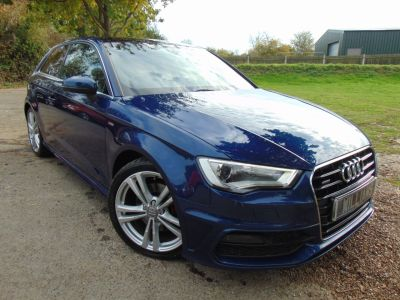 Audi A3 1.8 TFSI Quattro S Line 3dr S Tronic (pan Roof! Comfort Pack! Nav! +) Hatchback Petrol Scuba Blue MetallicAudi A3 1.8 TFSI Quattro S Line 3dr S Tronic (pan Roof! Comfort Pack! Nav! +) Hatchback Petrol Scuba Blue Metallic at Williams Group Maidstone
