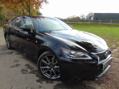 Lexus GS 300h 2.5 F-Sport 4dr CVT (Sunroof! Premium Sound! +++) Saloon Petrol / Electric Hybrid Obsidian Black MetallicLexus GS 300h 2.5 F-Sport 4dr CVT (Sunroof! Premium Sound! +++) Saloon Petrol / Electric Hybrid Obsidian Black Metallic at Williams Group Maidstone