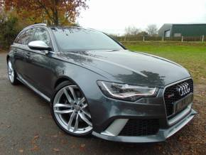 Audi RS6 Avant 4.0 TFSI V8 Avant Tiptronic quattro (s/s) 5dr (Dynamic Pack! Pan Roof! FASH! +) Estate Petrol Daytona Grey Pearl at Williams Group Ltd Maidstone