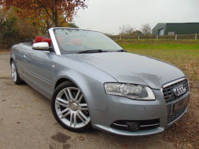 Audi A4 4.2 S4 Quattro 2dr Tip Auto (Low Miles! Nav! 18in Alloys! +) Convertible Petrol Light Silver MetallicAudi A4 4.2 S4 Quattro 2dr Tip Auto (Low Miles! Nav! 18in Alloys! +) Convertible Petrol Light Silver Metallic at Williams Group Maidstone