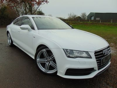 Audi A7 3.0 TDI S Line 5dr Multitronic [5 Seat] (Heads-Up! 20in Alloys! +++) Hatchback Diesel Ibis WhiteAudi A7 3.0 TDI S Line 5dr Multitronic [5 Seat] (Heads-Up! 20in Alloys! +++) Hatchback Diesel Ibis White at Williams Group Maidstone