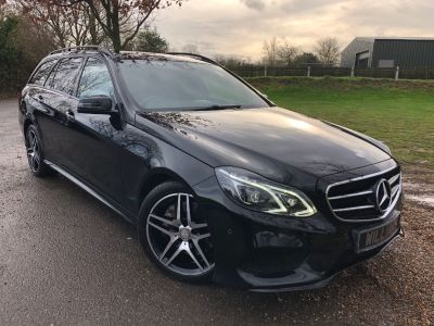 Mercedes-Benz E Class 3.0 E350 BlueTEC AMG Night Ed Premium 5dr 9G-Tronic (Privacy Glass! Pan Roof! +++) Estate Diesel Obsidian Black MetallicMercedes-Benz E Class 3.0 E350 BlueTEC AMG Night Ed Premium 5dr 9G-Tronic (Privacy Glass! Pan Roof! +++) Estate Diesel Obsidian Black Metallic at Williams Group Maidstone