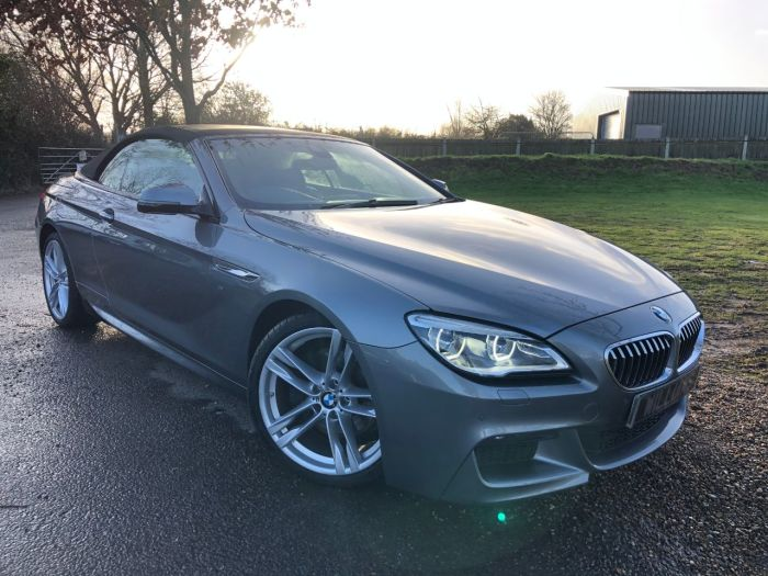 BMW 6 Series 3.0 640d M Sport Auto (s/s) 2dr (20in Alloys! Heads-Up! +++) Convertible Diesel Space Grey Metallic
